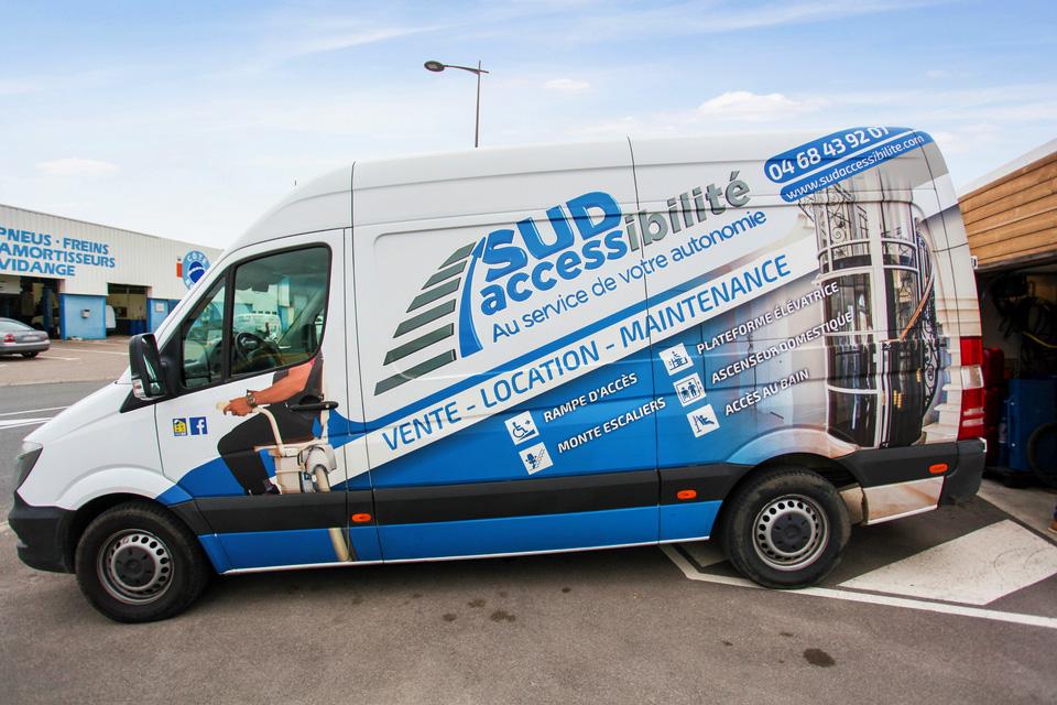 sud accessibilite camion de livraison