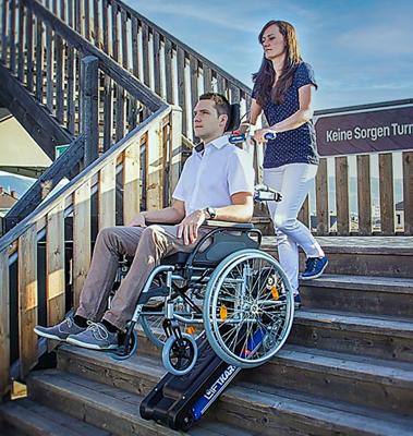 aide technique monte escalier motorisé avec chenille